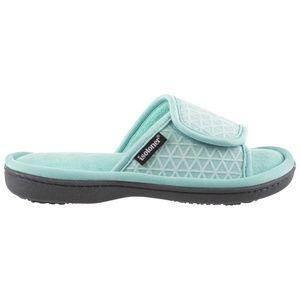 Isotoner Mia Mesh Adjustable Slides Slippers 7.5-8